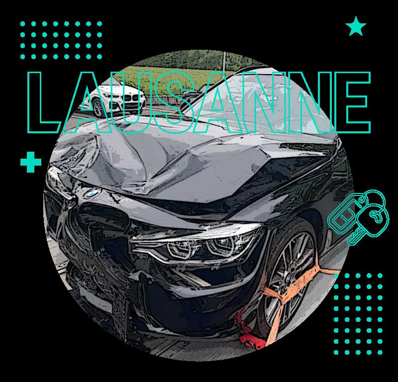 Rachat voitures accidentées Lausanne